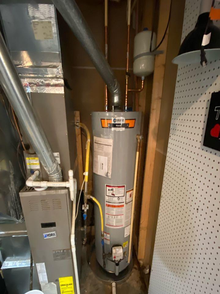Stafford, VA - Installed new 50 gallon propane water heater in stafford.
