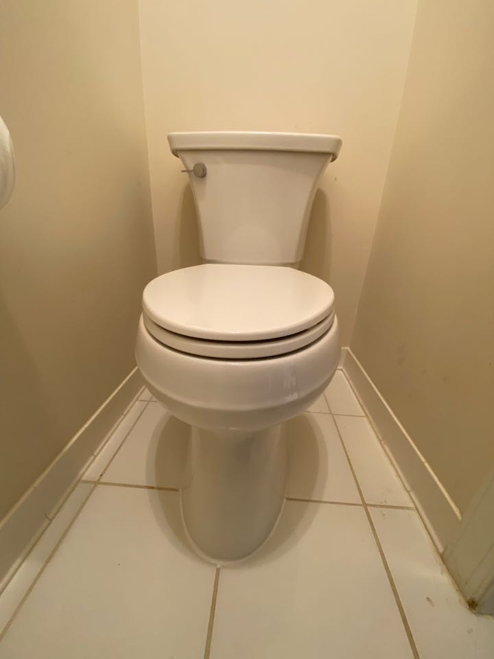 Stafford, VA - Repaired flange and installed new toilet in Stafford.