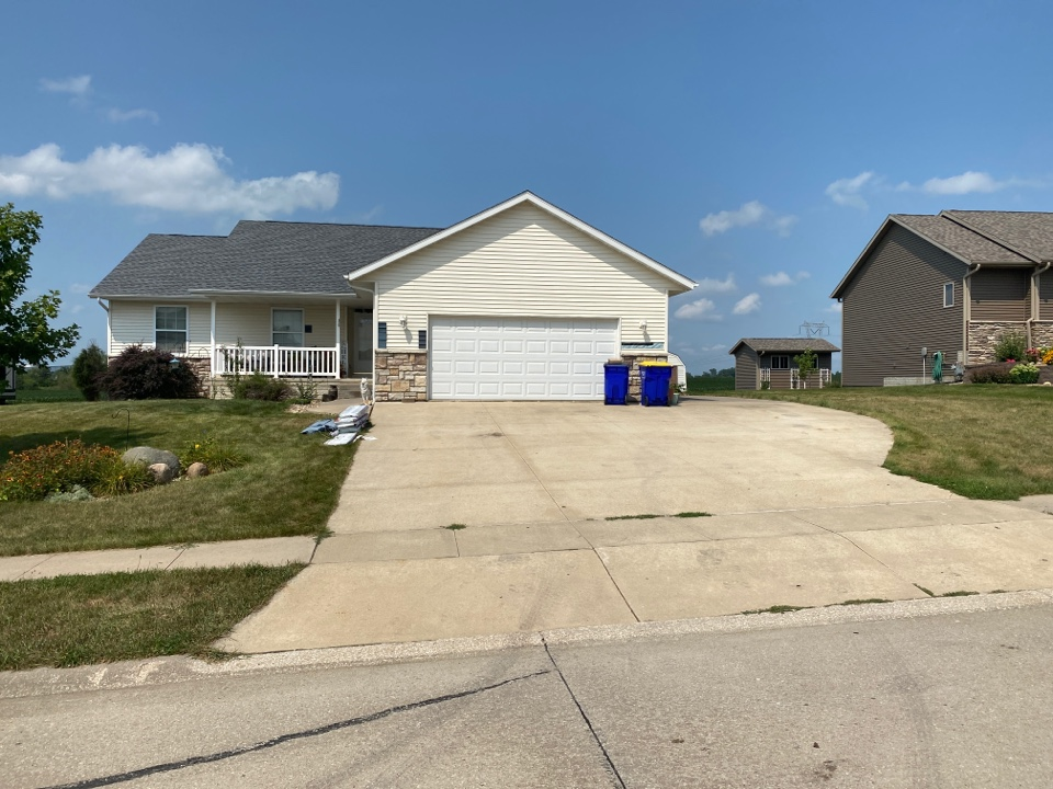 Walford, IA - Complete roof replacement in Walford. Customer is still picking a siding color. We will install Mastic Carvedwood siding once the choose a color.