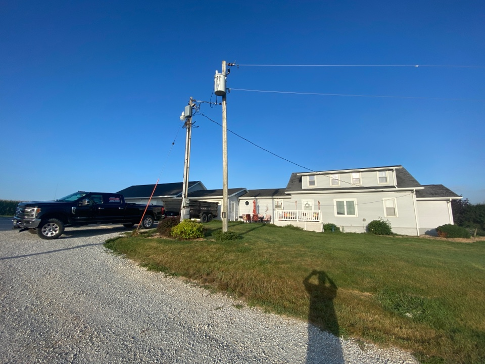 Parnell, IA - Roof replacement in Parnell. Insurance is replacing this roof because the derecho last August damaged the roof.