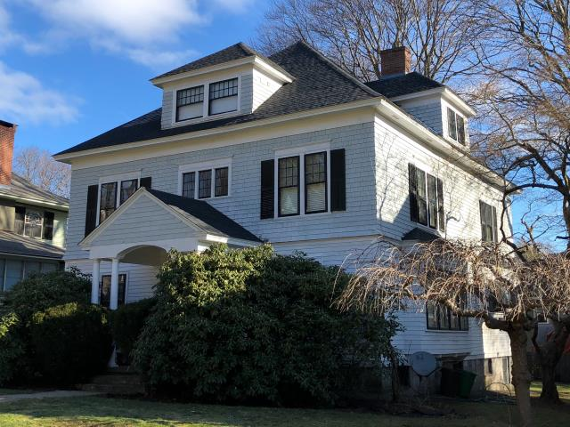 Worcester, MA - Roof replacement to this home in Worcester, Massachusetts.