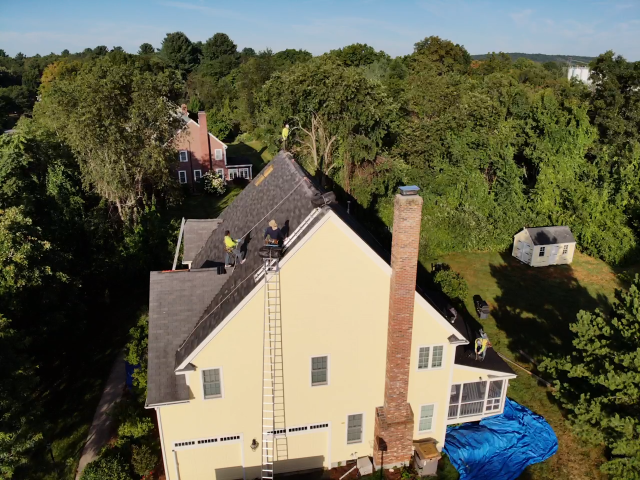 Westborough, MA - Roof replacement in Westborough, Massachusetts.