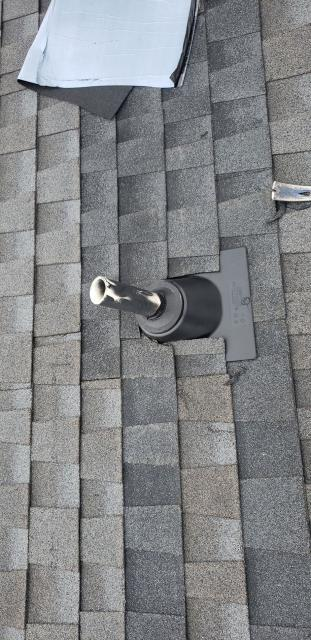 Lexington, SC - Replace two pipe boots and replace charcoal arc shingles on one story home to fix a leak in the master bedroom closet