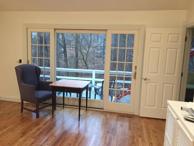 Norwalk, CT - Completed Patio Door Project - Jack get the aesthetics of french doors without them swinging out.
