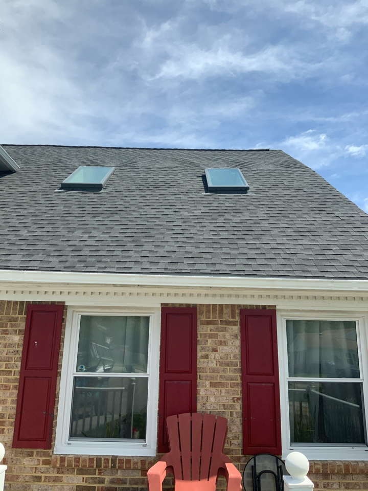 Virginia Beach, VA - Roof evaluation. Evaluating a concerning dip in the roof