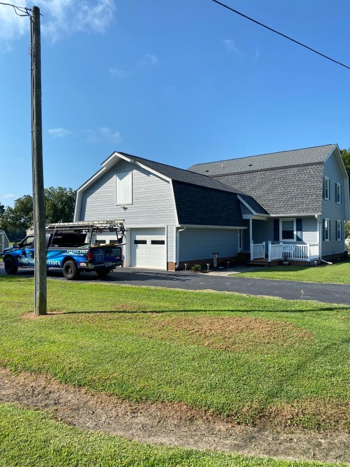 Carrollton, VA - New GAF roof, new vinyl siding, new vinyl soffit, and new aluminum trim wrap…all done.