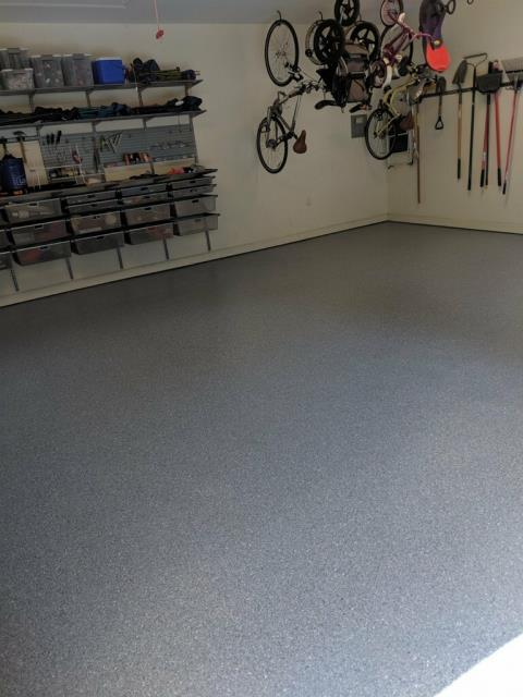 Atlanta, GA - Guardian Garage Floors is your expert in concrete coatings.  Here is another garage floor made into a useable space.  One day install and a Lifetime Warranty, call today for your free estimate!