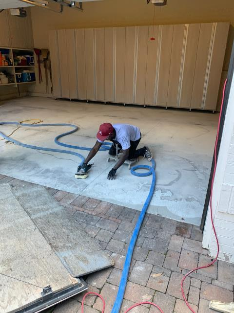 Nashville, TN - Getting the old Epoxy floor Removed