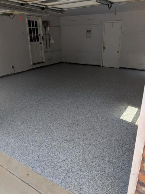 Marietta, GA - Another garage floor updated in Marietta, GA by Guardian Garage Floors.  Do not go with epoxy, they will eventually fail.  We guarantee our floors for life.