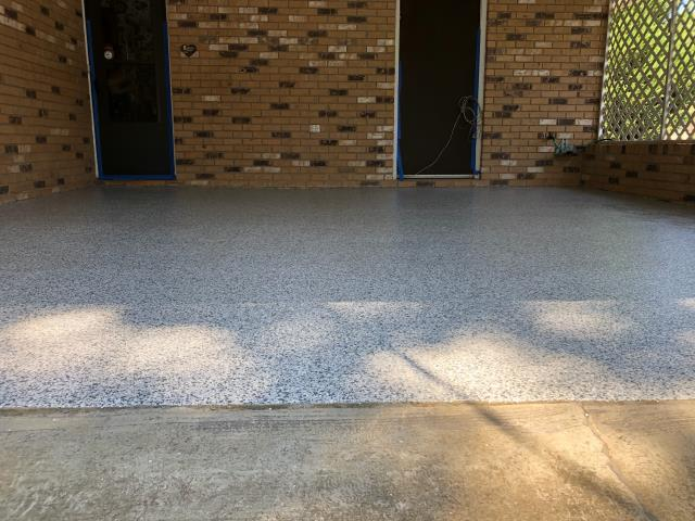 Austell, GA - Coated customers carport in Austell, GA today with full Polyaspartic process.
