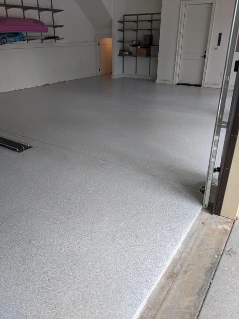 Atlanta, GA - Guardian garage is in Atlanta helping another customer transform their garage floor into something beautiful.