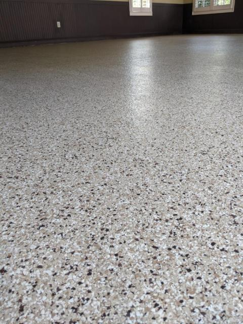 Alpharetta, GA - Guardian Garage Floors was in Alpharetta removing a failed epoxy floor and installing our stronger polyaspartic concrete coating. this install was done in our color Bambi.