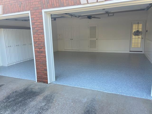 Atlanta, GA - Guardian Garage Floors is in Atlanta making another customer happy with a beautiful install for this two car garage in the color Antler.
