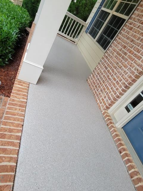 Atlanta, GA - The color Pumice tan looks great for this install we did in Atlanta GA. Our polyaspartic concrete coating works great for any outdoor concrete because its UV and weather resistant.