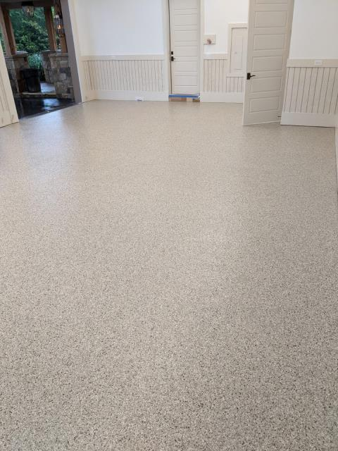 Marietta, GA - Guardian Garage Floors is in Marietta Ga installing a concrete coating that is 20 times stronger than epoxy and guaranteed not to peel or flake in the beautiful color Bambi.