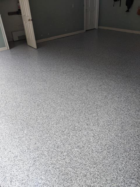 Atlanta, GA - Guardian Garage Floors is in Atlanta GA installing a polyaspartic concrete coating that is 20X stronger than epoxy. This install was done in the color Gravel.