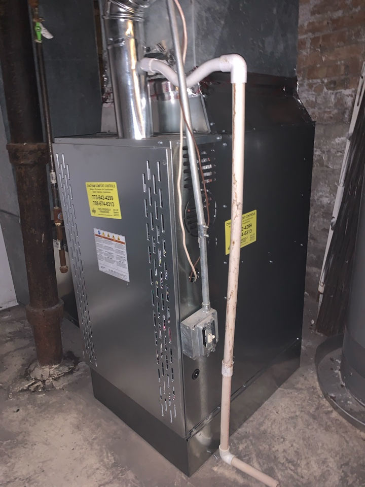 Ameristar 100,000 BTU gas furnace installation 60619