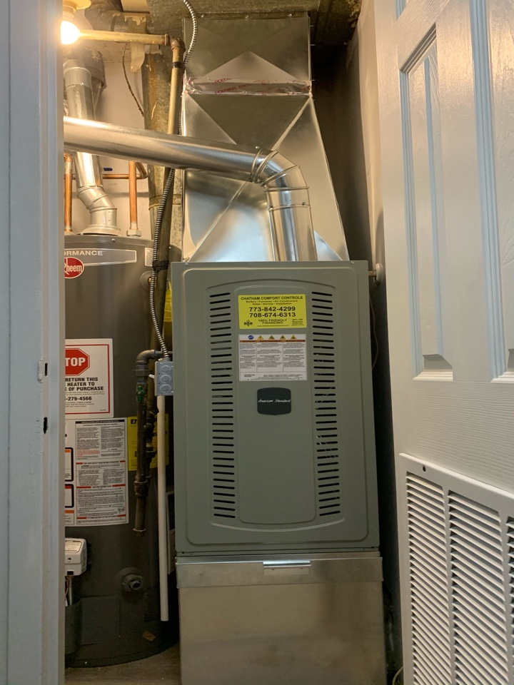 10 unit apartment conversion furnace and water heater's American Standard S8X1 40,000 Btu gas furnaces