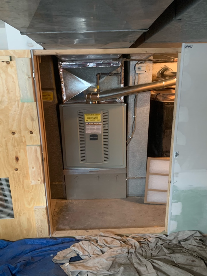 American Standard S8B1 ; 120,000 Btu gas furnace installation Chicago 60619