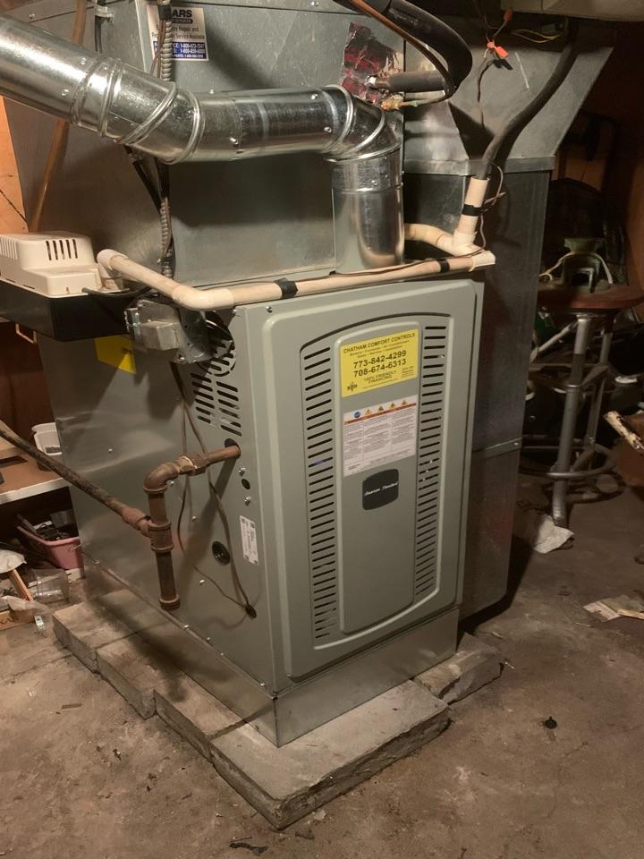 American Standard S8B1. 80,000 Btu gas furnace installation Chicago 60620