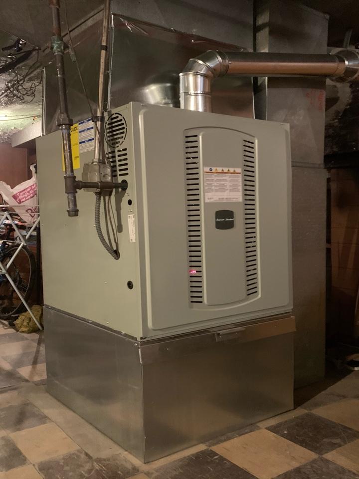American Standard S8B1. 120,000 Btu gas furnace installation Chicago 60619