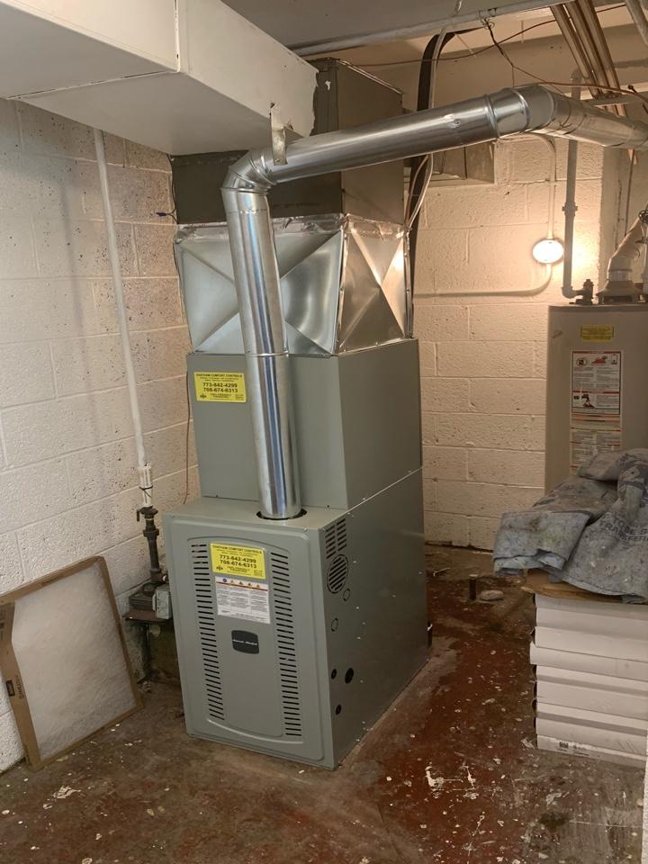 American Standard S8B1 60,000 Btu gas furnace American Standard Silver 13 ; 2 ton condenser with coil