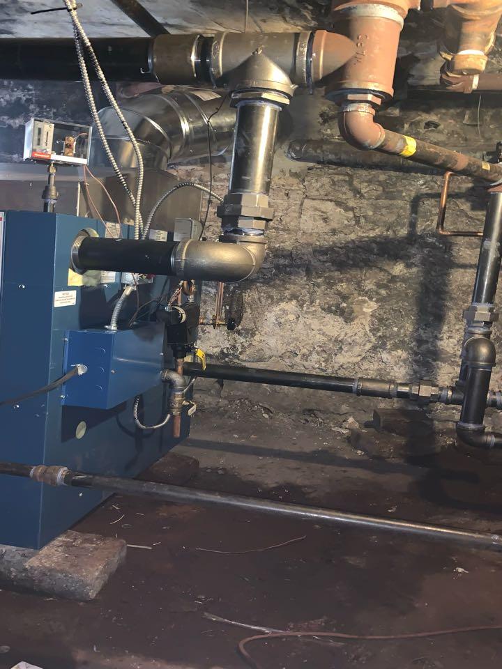 Commercial Steam Boiler Installation Dunkirk D249-500 ;500,000 Btu Steam Boiler