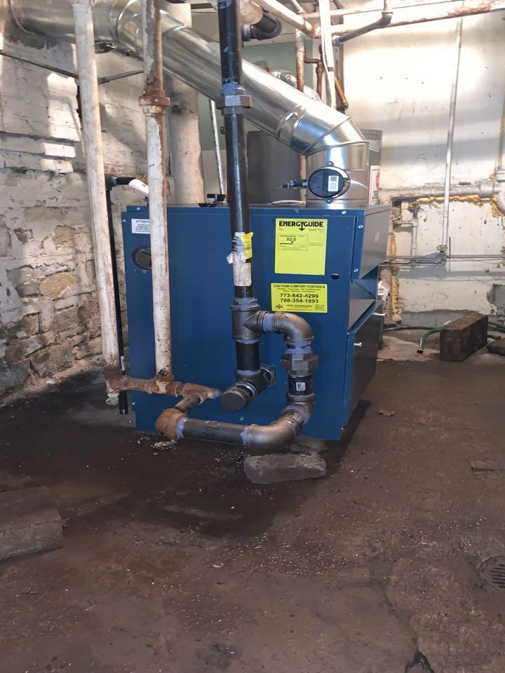 Dunkirk PSB 225,000 Btu Steam Boiler Installation Chicago 60637