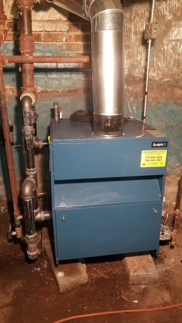 Boiler installation  PSB-8D 262,500 BTU STEAM BOILER