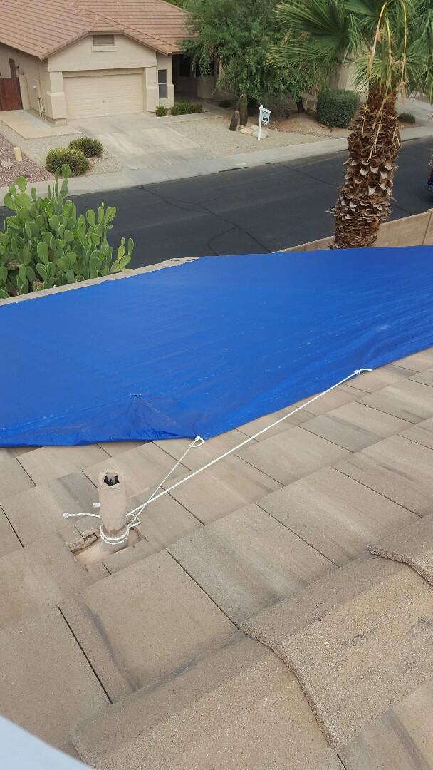Gilbert, AZ - Leak under tarp,full r and r