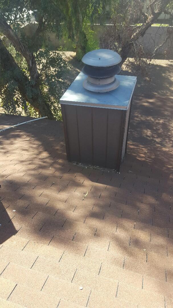 Mesa, AZ - Water ponding behind chimney