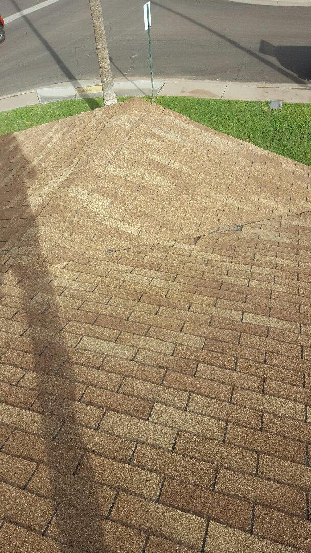 Scottsdale, AZ - Shingles installed wrong