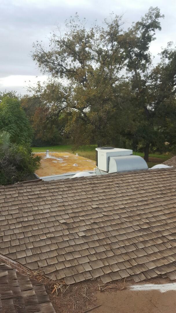 Mesa, AZ - Reroof take shakes off install 30 year shingle
