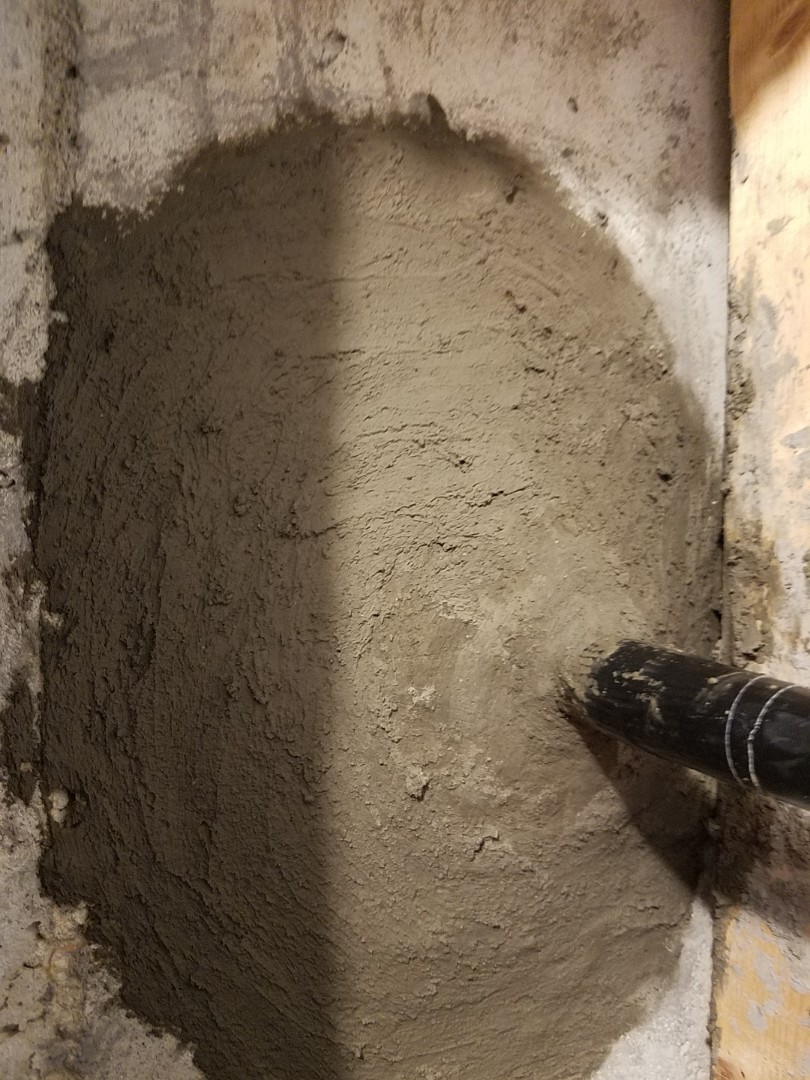 Douglasville, GA - Sealed water service line coming through the foundation wall