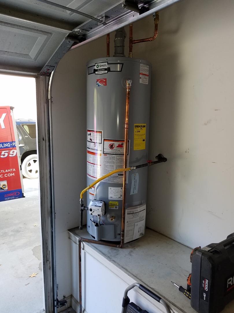 Atlanta, GA - Replaced a 50 gallon gas water heater.