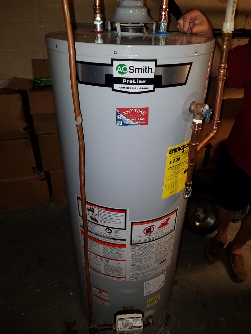 Fayetteville, GA - Changed out 50 gallon gas water heater and thermal expansion tank