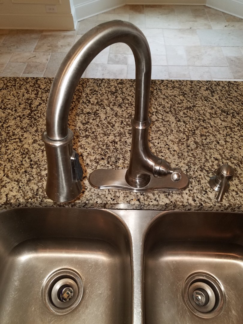 Fayetteville, GA - Checked a kitchen sink faucet for no water.