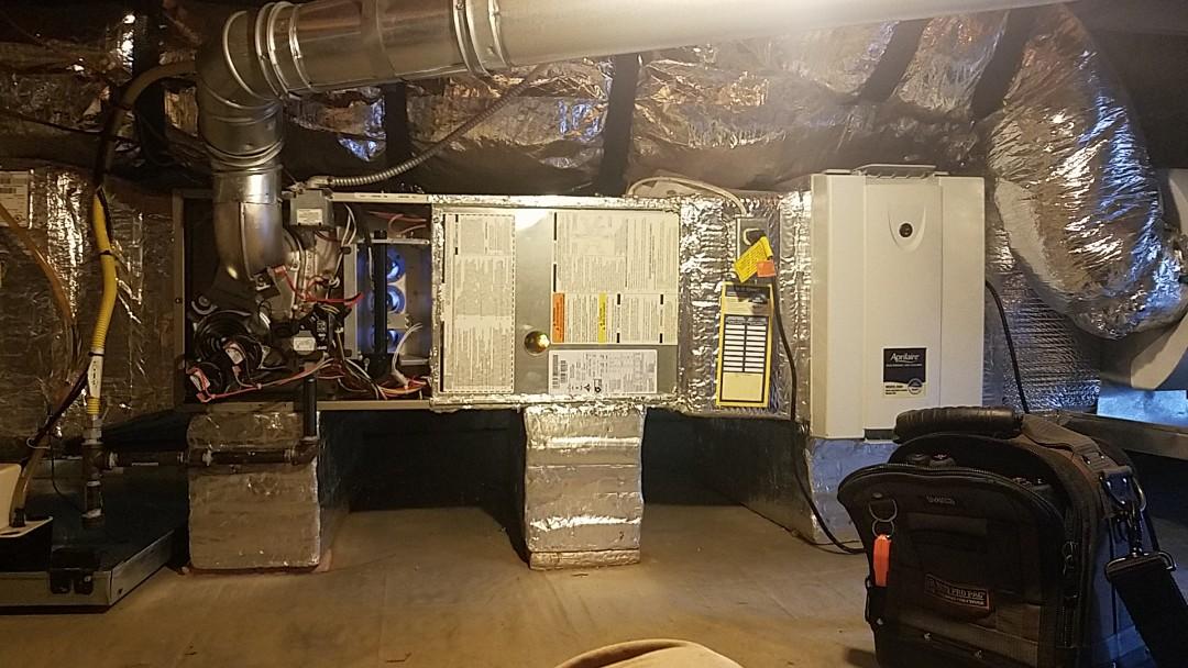 Alpharetta, GA - Preventative maintenance on a furnace for the winter.