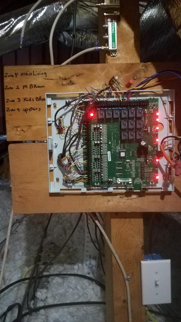 Newnan, GA - Working on a zone board controlling a heat pump system