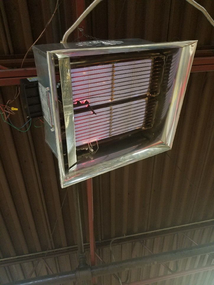 Decatur, GA - Hvac commercial service call on a hanging heater.