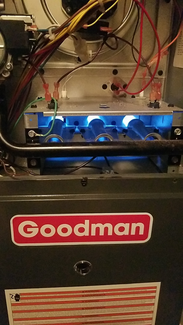 Cumming, GA - Preventative maintenance  gas furnace heat check on hvac unit