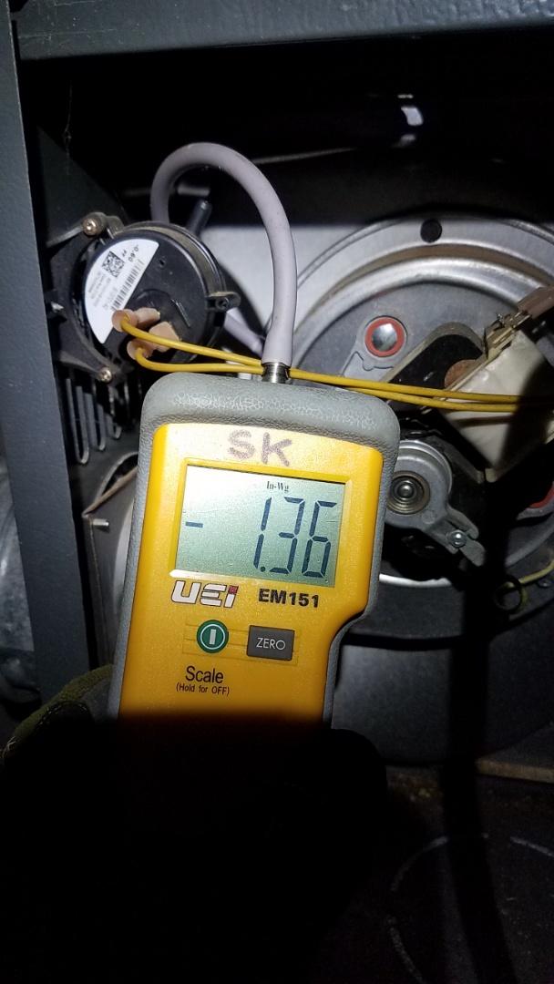 Newnan, GA - Heat not working,  pressure switch replacement.
