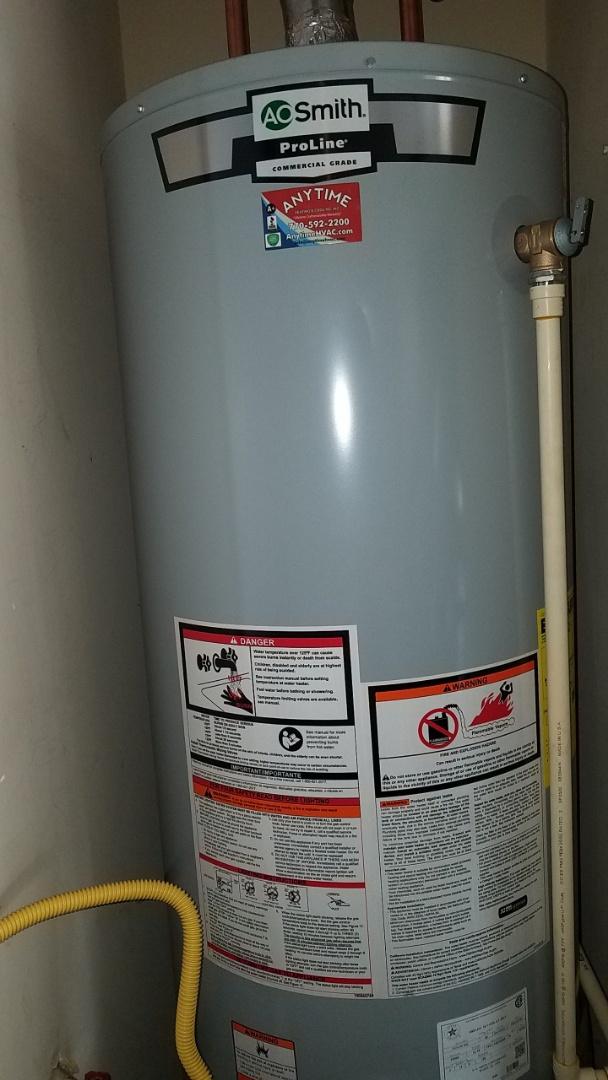 Cumming, GA - replacing 50 gallon water heater