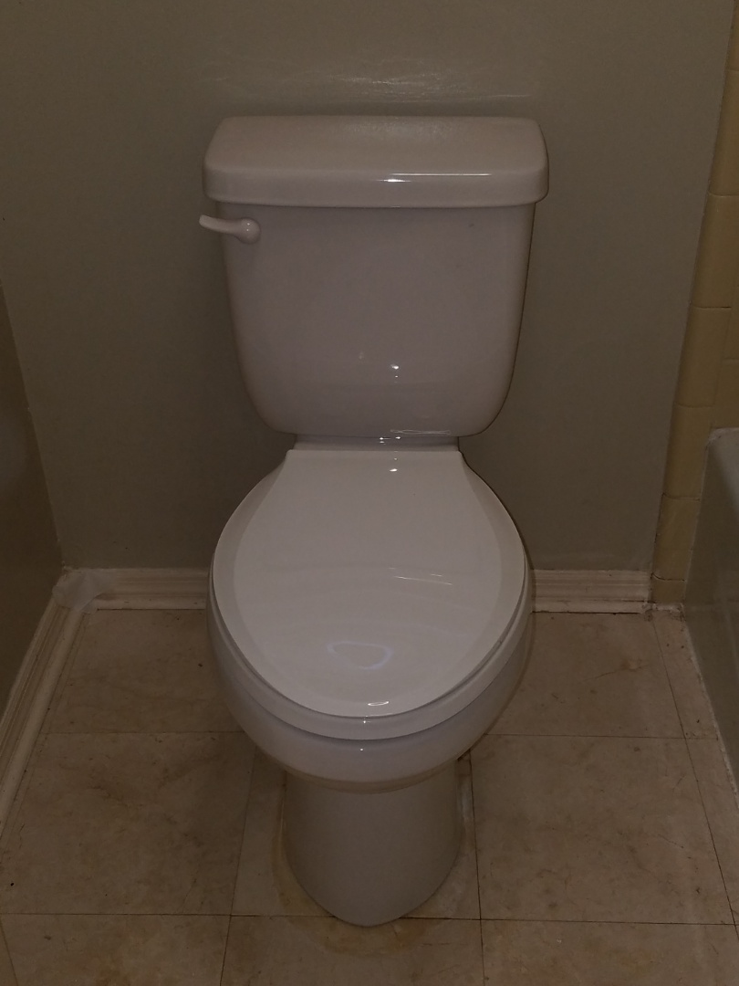 Roswell, GA - Replaced one toilet upstairs. Also changed out 2- 4 inch spread lavatory faucets.