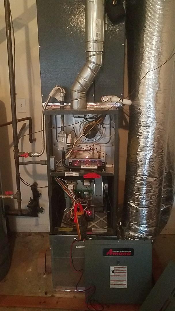 Fayetteville, GA - Working on a gas furnace