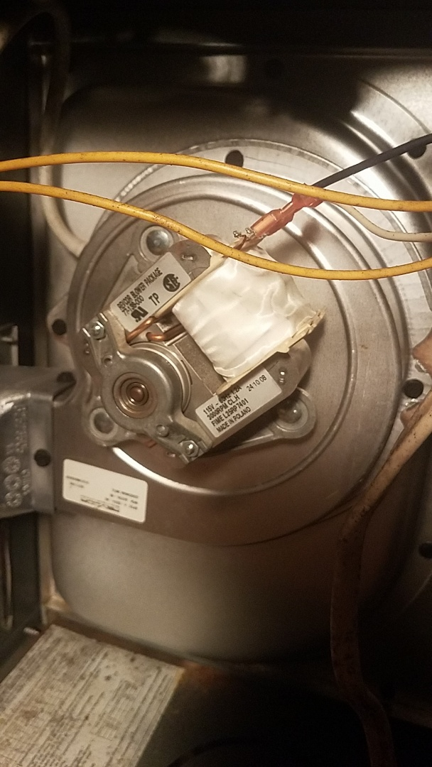 Fayetteville, GA - Working on a draft inducer motor. Gas furnace