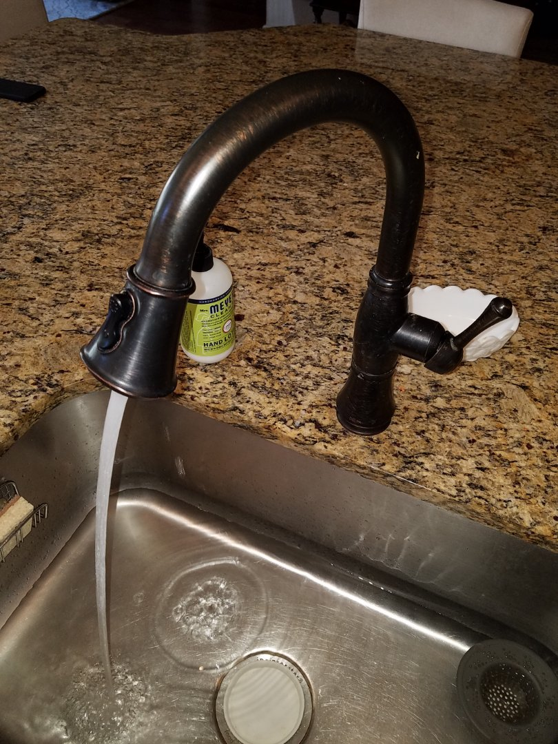 Canton, GA - Changed out the hose on a kitchen sink faucet