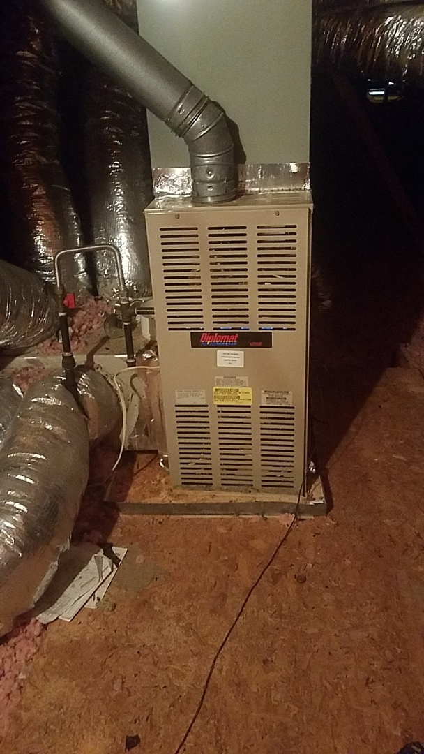 Newnan, GA - Working on gas furnace