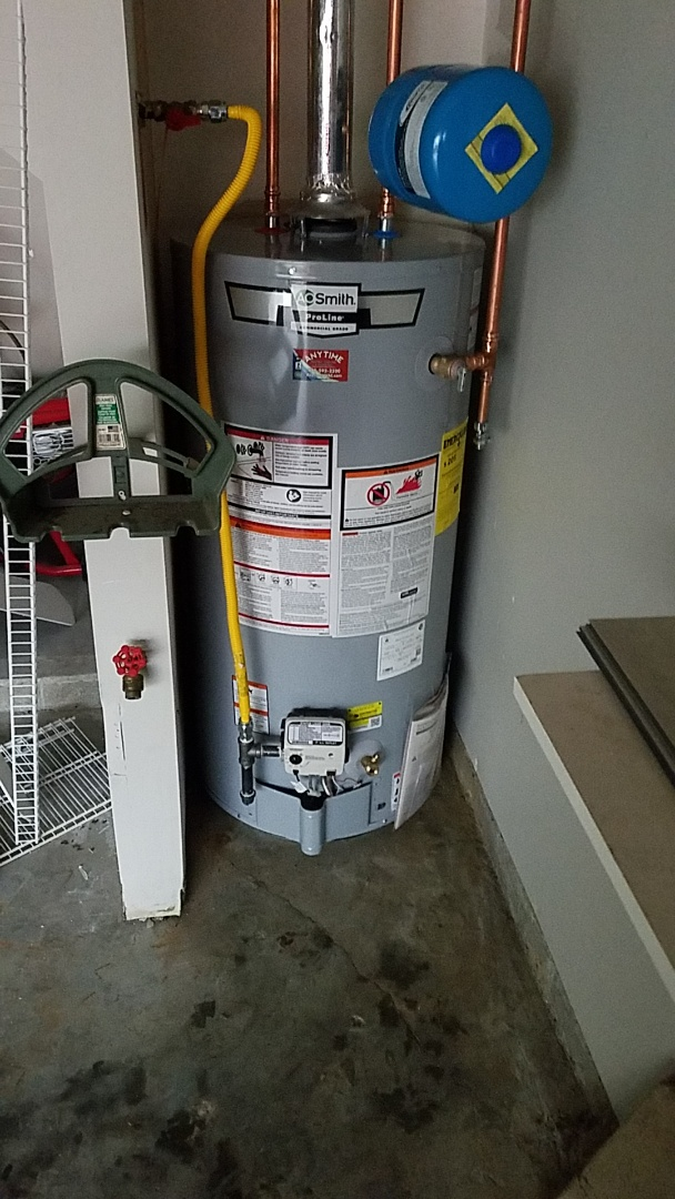 Alpharetta, GA - Installing new gas water heater and new pressure regulator