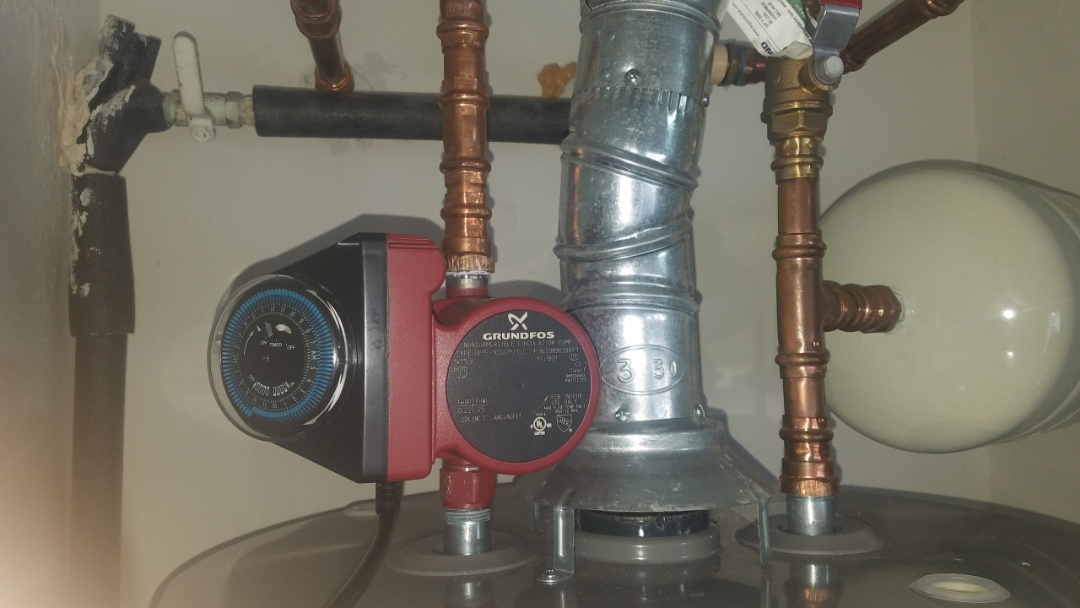 Canton, GA - Replacing circulating pump at water heater
